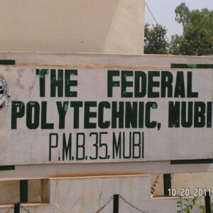 A picture depicting the address of Federal Polytechnic Mubi