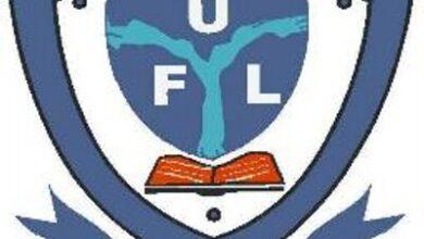The logo of Federal University Lokoja