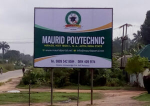 A signboard of Maurid Polytechnic